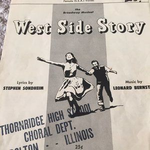TONIGHT FROM WEST SIDE STORY SHEET MUSIC